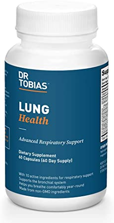 Dr. Tobias Lung Health Support, Cleanses Lungs, Includes Vitamin C, 60 Capsules (1 Daily)