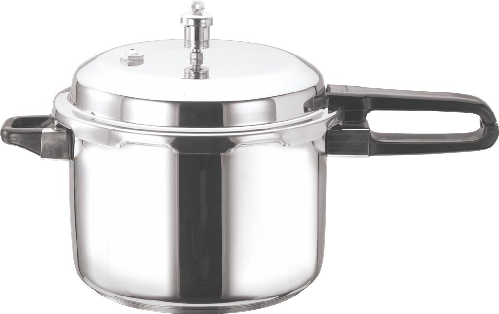 Vinod V-8L Stainless Steel Sandwich Bottom Pressure Cooker, 8-Liter
