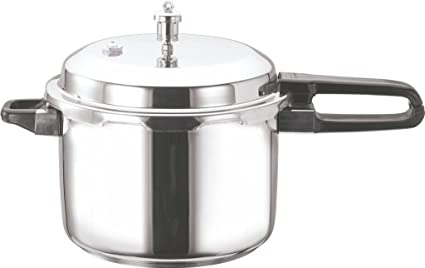 Vinod Cookware Induction Friendly Stainless Steel Sandwich Bottom Pressure Cooker, 8 Litres
