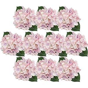 DECONEXT Artificial Silk Flowers California Fake Beautiful Hydrangea Bouquet Flower Stem Home Wedding Bouquet Decor, Pack of 10 83