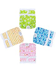 Teamoy 4PCS Female Dog Diapers, Dog Reusable Diapers for Female Dogs with Ruffles, Super-Absorbent and Comfortable