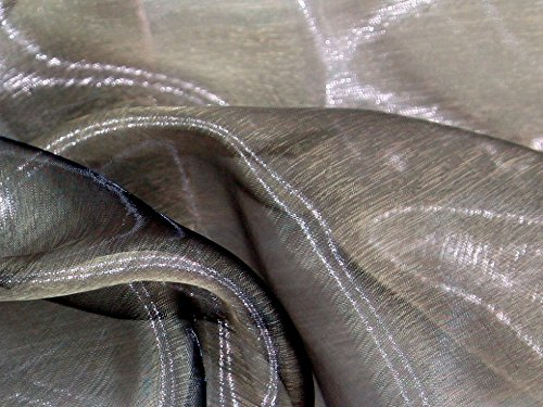 Minerva Crafts Two Tone Sheer Organza Dress Fabric Silver Black - per metre
