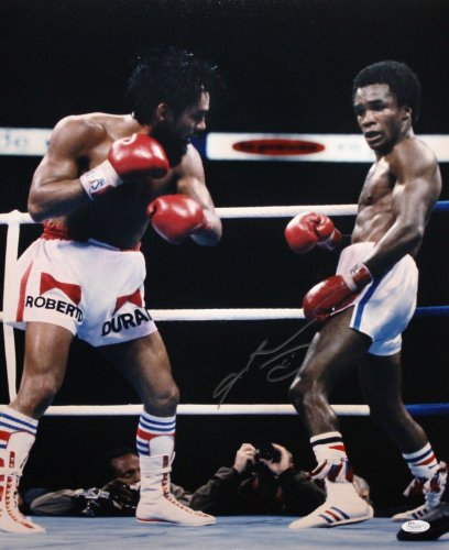 - Sugar Ray Leonard Autographed 16x20 Vertical Boxing Photo- JSA W Authenticated