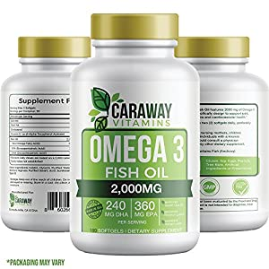 Omega 3 Fish Oil Pills 180 SOFTGELS Best Value Triple Strength | Burpless & Odorless Capsules…