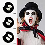 AsaVea 3 Pairs Vampire Teeth Fangs, Safe & Non-Toxic False Tooth Dentures for Halloween Costume Cosplay Party Events, Fits Most Kids & Adults (3 Sizes)