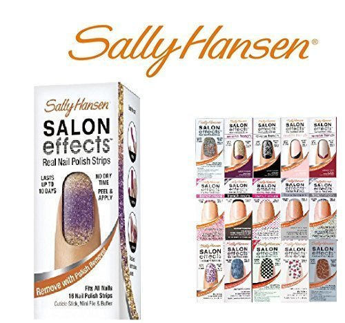 Sally Hansen Salon Effect Real Nail Polish Strips, French Mixed(Lot of 10) by Sally (Lot French Nail)