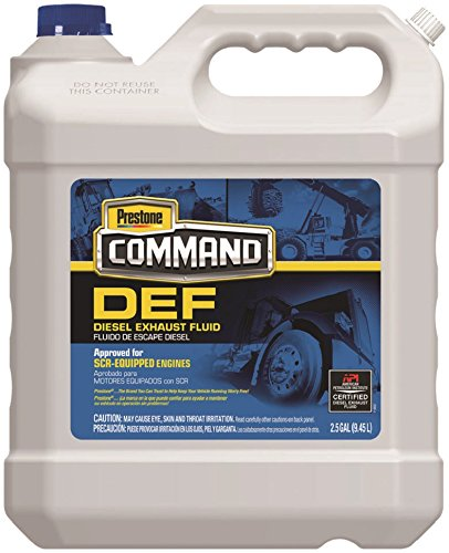 Diesel Exhaust Fluid >> Amazon Com Prestone Hd1001 Command Diesel Exhaust Fluid 2 5