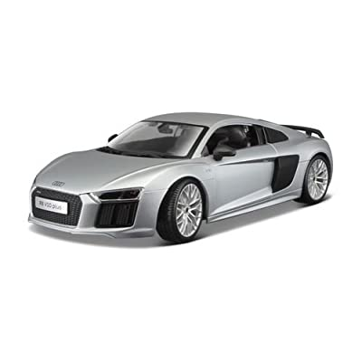 Maisto New 1:18 W/B Premiere Edition - Silver Audi R8 V10 Plus Diecast Model Car: Toys & Games