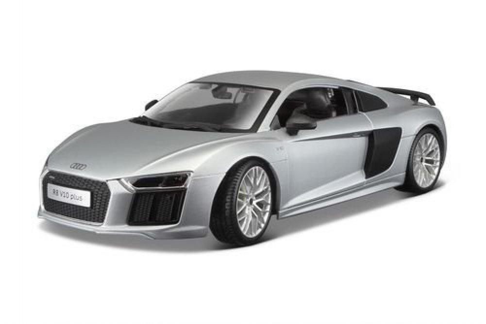NEW 1 18 W B MAISTO PREMIERE EDITION SILVER AUDI R8 V10 PLUS Diecast Model Car By Maisto