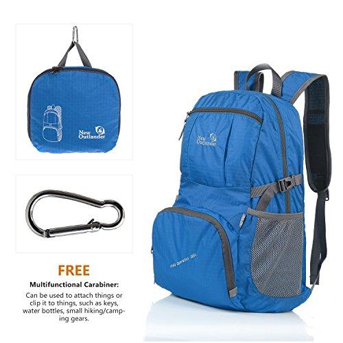 Outlander Packable Lightweight Travel Hiking Backpack Daypack (New Dark Blue)