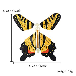 Gmai Flying Butterfly - Classic Wind Up Swallowtail Butterfly - Close Up Magic Set Of