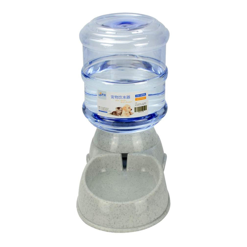 juqilu Dispensador de Agua para alimentador de Mascotas Gravity, dispensador de Agua automático para Mascotas, 3.8L, Gris: Amazon.es: Hogar