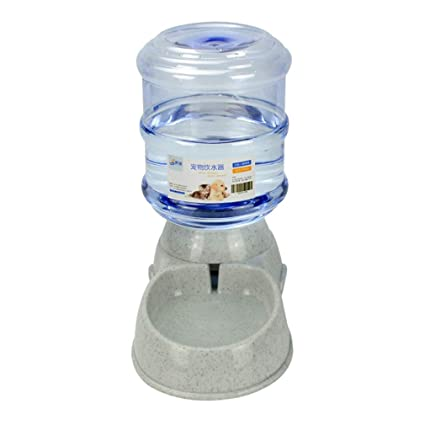 juqilu Dispensador de Agua para alimentador de Mascotas Gravity, dispensador de Agua automático para Mascotas