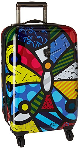 Heys America Multi -Britto Butterfly 21-Inch Carry-on Spinner - Luggage Usa Lightweight Heys
