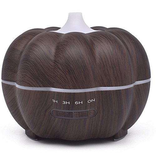SoadSight Yrd Tech Pumpkin Wood Oil Aromatherapy Machine Humidifier Ultrasonic Home Creative Atmosphere Aromatherapy Humidifier (Brown) by SoadSight