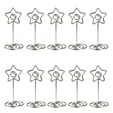 ULTNICE 10pcs Metal Star Table Number Photo Holder Stands for Weddings Party Gatherings