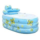 Bathtubs Freestanding Inflatable Thickened Adult tub Folding Bath tub Children's Bath tub Plastic Bath tub with air Pump (Color : Blue, Size : 1307570cm)