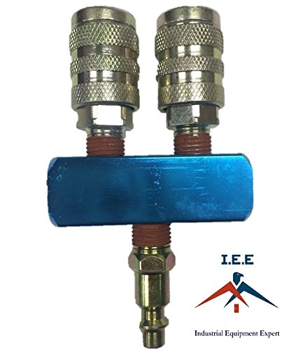 2 Way manifold with 2 M Style couplers and one plug