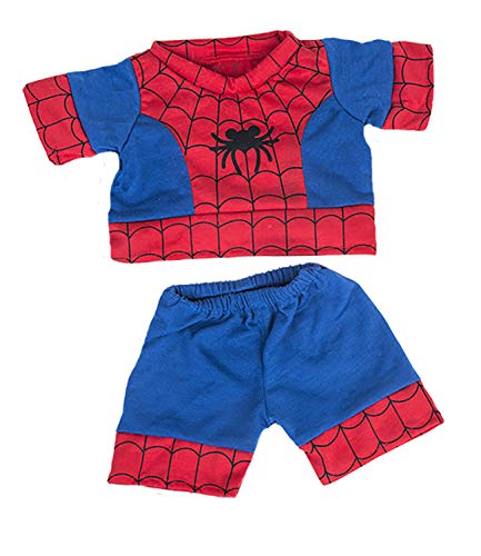 """Spiderbear"" PJ's Outfit Teddy Bear Clothes Outfit Fits Most 14"" - 18"" Build-a-bear, Vermont Teddy Bears, and Make Your Own Stuffed Animals from Stuffems Toy Shop"
