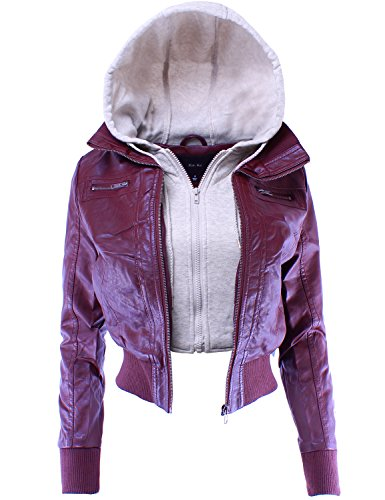 Ladies Leather Biker Style Jackets - 3