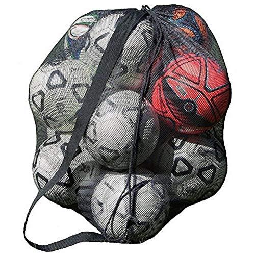 LIOOBO Bolso Deportivo Bolso Sling Correa para el Hombro Fútbol Baloncesto Malla Bolsa Neta Bolsa de Almacenamiento con cordón por LIOOBO