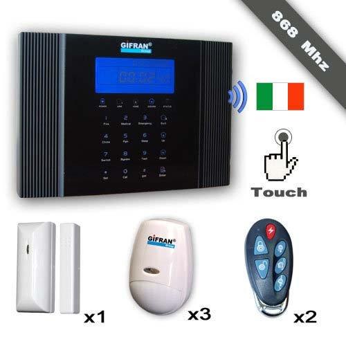 Alarma Casa Sin Hilos 868 MHz GSM Voz Guía italiana, Kit ...