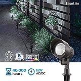 LEONLITE 4W LED Outdoor Landscape Light, Adjustable Pathway Lighting Fixture, IP65 Waterproof, CRI90+, ETL Listed, 5000K Daylight, Aluminum Housing, for Yard/Lawn/Garden, Pack of 4