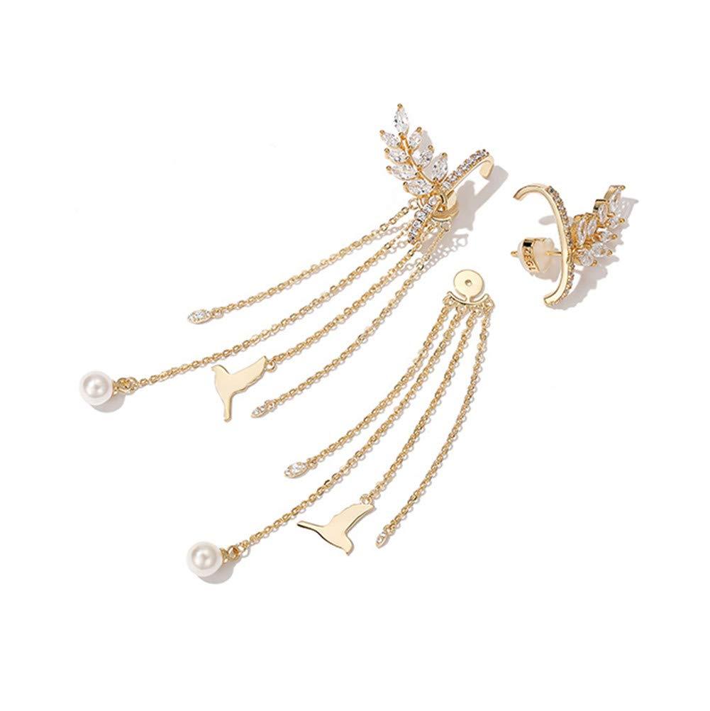 Zk0031 aretes ohrhänger pendientes circonita Collier perlas joyas trébol PL