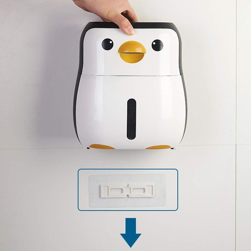 Mini dispenser per asciugamani di carta motivo pinguino Abcidubxc montaggio a parete impermeabile