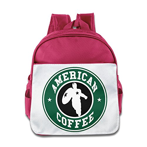 KIDDOS Infant Toddler Kids American Coffee Backpack School Bag, Pink ()