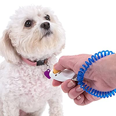 Dog Training Clicker By Cloud 9 - Perfect For Training Puppies, Cats, Birds, Horses & Even Rabbits! Free Detailed eBook On Clicker Training Included.