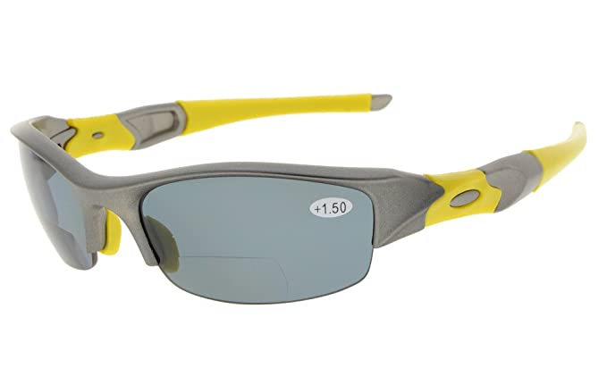 a331d89d7548 Half-Rimless Polarized Bifocal Reading Sunglasses Tinted Glasses Mens  Wraparound Designer Style Sports UV 400