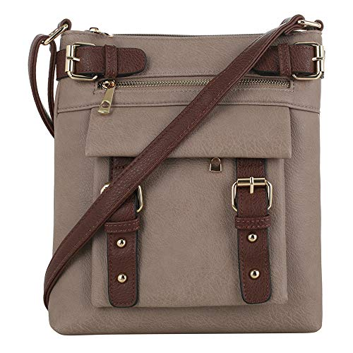 Jessie & James 2 Toned Belt Concealed Carry Crossbody Bag with Lock and Key | Sand