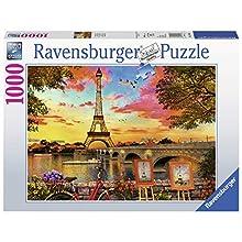 Ravensburger-15168 Ravensburger Banks of The Seine-Puzzle de 1000 Piezas, Multicolor (15168)