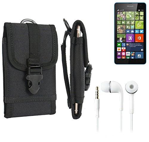 bolsa del cinturón / funda para Asus ZenFone 6, negro + Auriculares | caja del teléfono cubierta protectora bolso - K-S-Trade (TM)