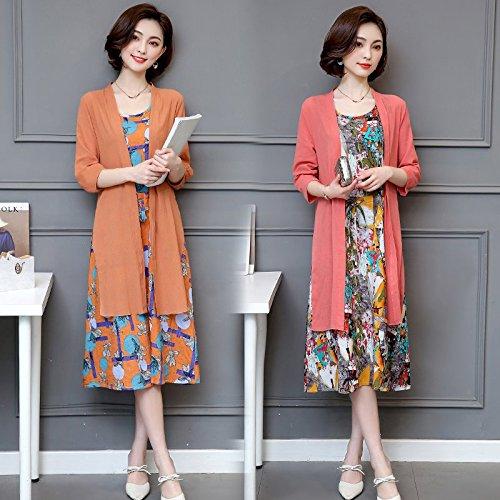 Coton Taille XL Les casse Petites Jupe Pastque Jupe Rouge Fleur Robes Grande Morceaux Jin MiGMV de parfum de Deux sme Robe nzIqWqf