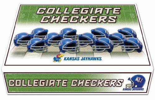 NCAA Kansas Jayhawks Miniature Helmets Checker -
