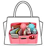 xhorizon SR Felt Insert Fabric Purse Organizer, Handbag Organizer, Multi Pocket Bag in Bag Organizer for Tote & Handbag Shaper, Multipocket Insert Bag