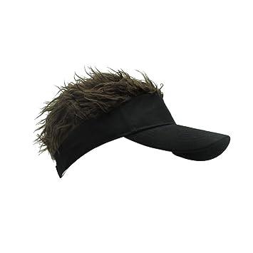 bb9a7ed0c0abc Reefa Mens Novelty Baseball Cap Adjustable Sun Visor Hat with Funny Fake  Hair Cool Birthday Gifts