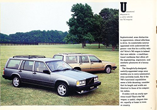 Amazon.com: 1988 Volvo 740 18-page Original Car Sales Brochure - Turbo GLE Wagon: Everything Else
