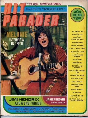 Rod Stewart 1971 - Hit Parader Magazine MELANIE Rod Stewart ERIC BURDON & WAR Moody Blues TOMMY JAMES Dion AL KOOPER April 1971 (Hit Parader Magazine)