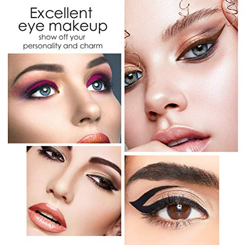 Double-sided Stamp Eyeliner Pen Waterproof Liquid Eyeliner Long Lasting & Smudgeproof Makeup Eyeliner Stamp Tattoo Makeup Tools, 2 Styles(Black / Brown))