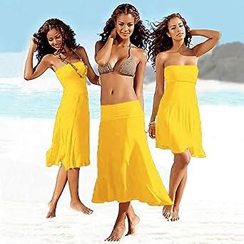 426b8877ec HITSAN INCORPORATION Maxmessy More Wear Beach Cover Up Bikini Swimwear  Women Tube Top Beach Dress Swimming