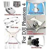 XSD MOEDL Camera Sun Hood Cap+lens cap+ Motor guards +Neck strap + Camera Gimbal Guard Protector + Antenna Range Booster For DJI Phantom 4