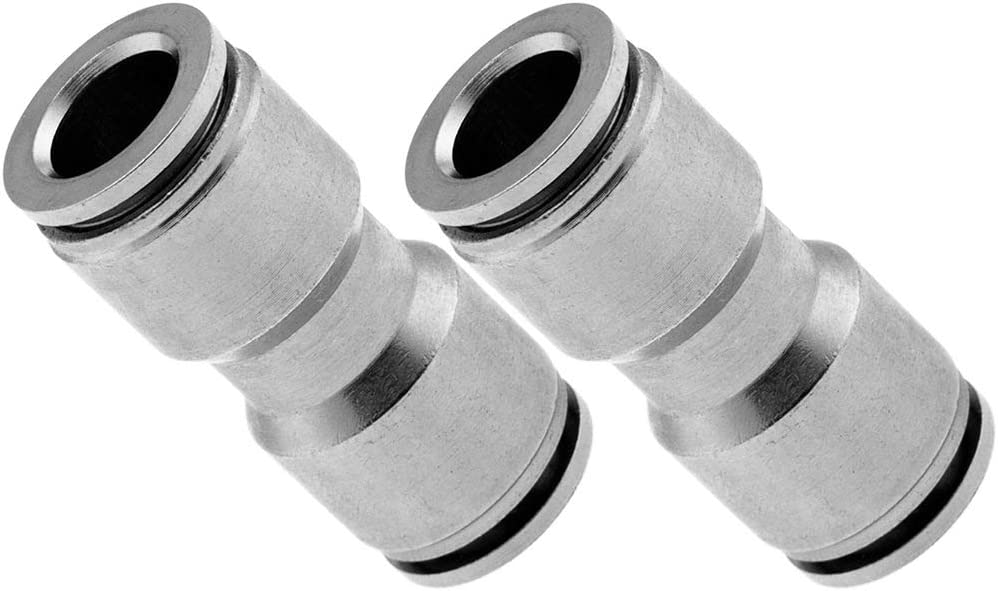 Vixen Air Push to Connect Bundle of Two Fittings VXA8212-2 PTC Union//Joint Straight Pneumatic Fitting for 1//2 OD Hoses