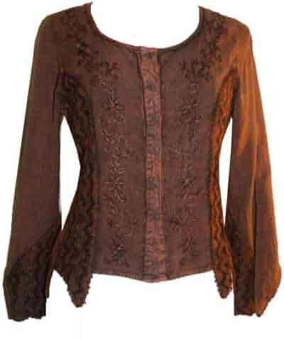 160ac2da78 101B Agan Traders Medieval Renaissance Vintage Top Blouse