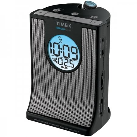 Timex T436b Auto Set Alarm Clock Radio With Projection & Nat