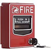 UHPPOTE 9-28VDC Conventional Manual Call Point Fire Reset Push In Pull Down Emergency Alarm Station Dual Action