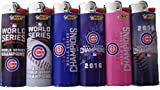 6pc FULL SIZE SET CHICAGO CUBS WORLD SERIES CHAMPION EDITION MLB BASEBALL BIC LIGHTERS