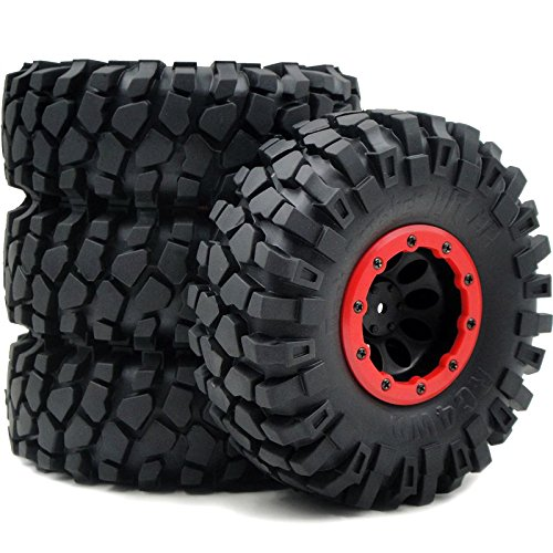 4wd Tires Wheels - 4pc RC 2.2 Rock Crawler Tires Tyres 139mm & 2.2 Beadlock Rims Fit RC 4WD Axial